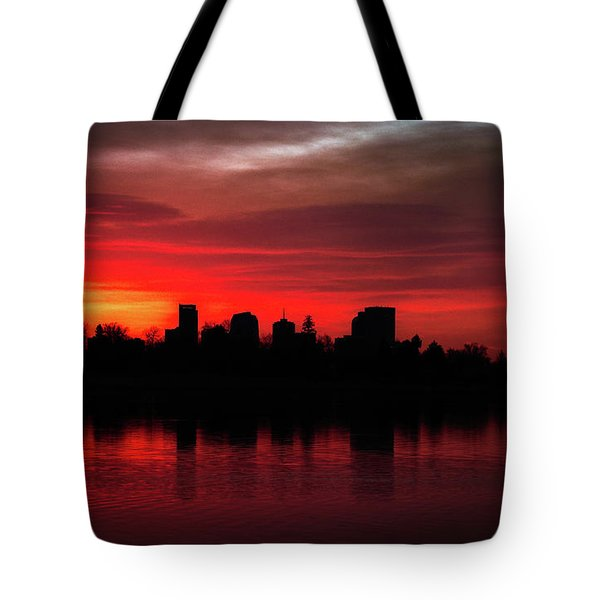 First Light In Denver Tote Bag