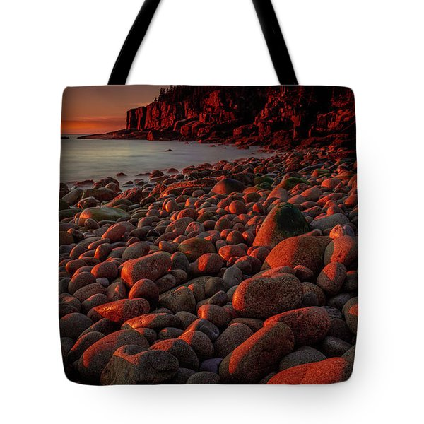 First Light On A Maine Coast Tote Bag by Tim Bryan