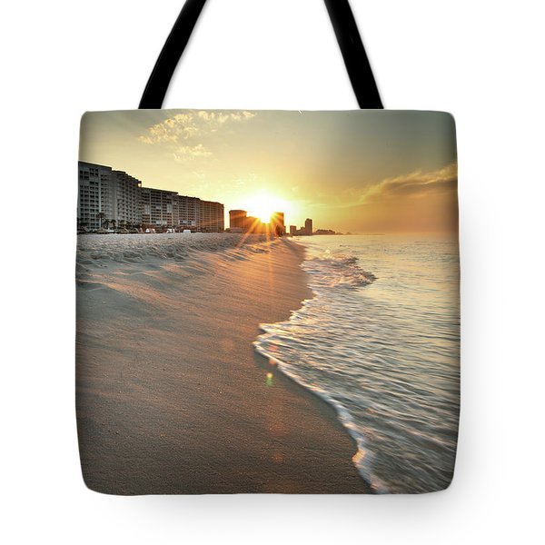 Tote Bag featuring the photograph First Light On Orange Beach by Greg Mimbs