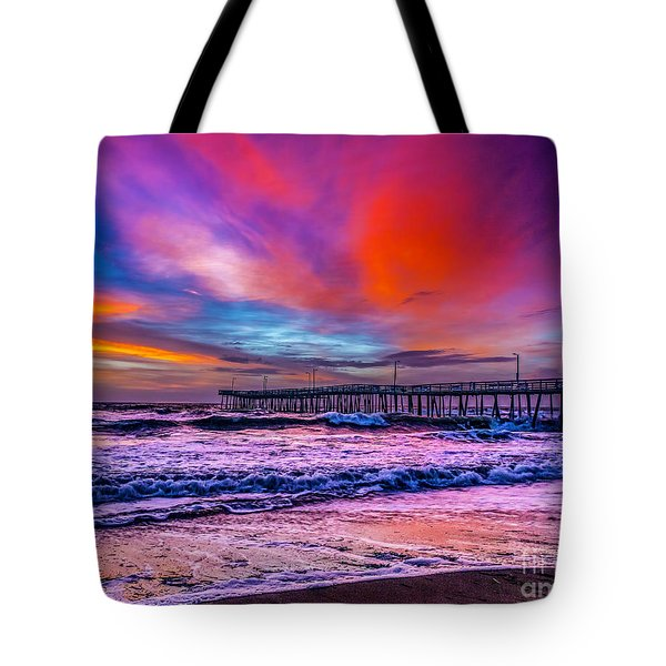 Tote Bag featuring the photograph First Light On The Beach by Nick Zelinsky