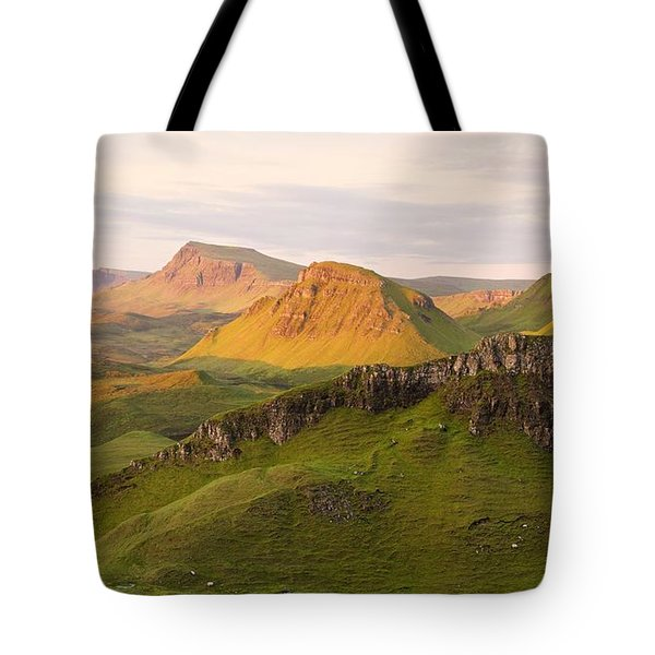 First Light On The Quairing  Tote Bag