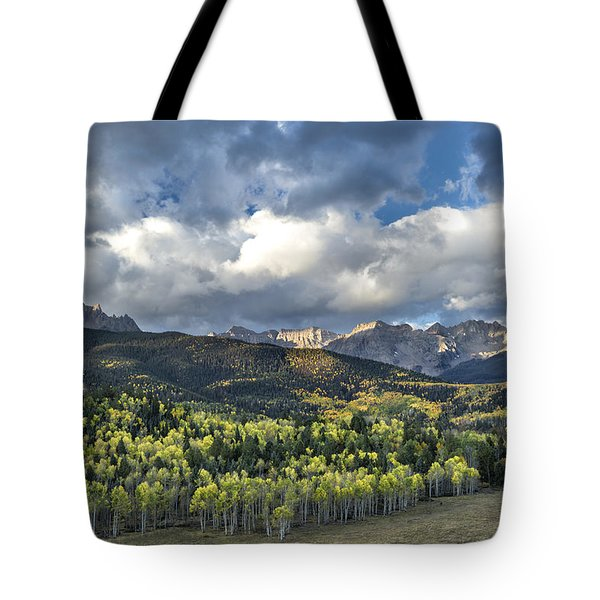 First Light On The Sneffels Range Tote Bag