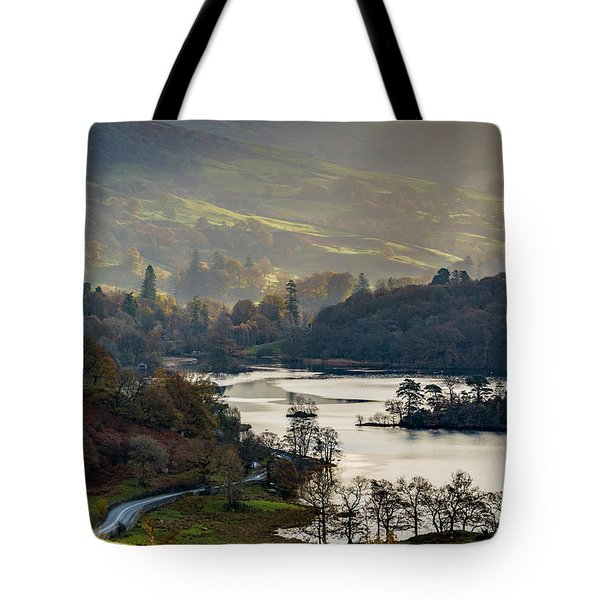 First Light Over Rydal Water In The Lake District Tote Bag