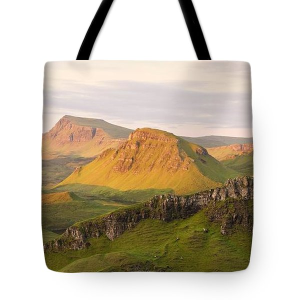 First Light Trotternish Panorama Tote Bag