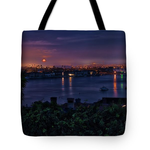 First Moonset Of 2018 Tote Bag