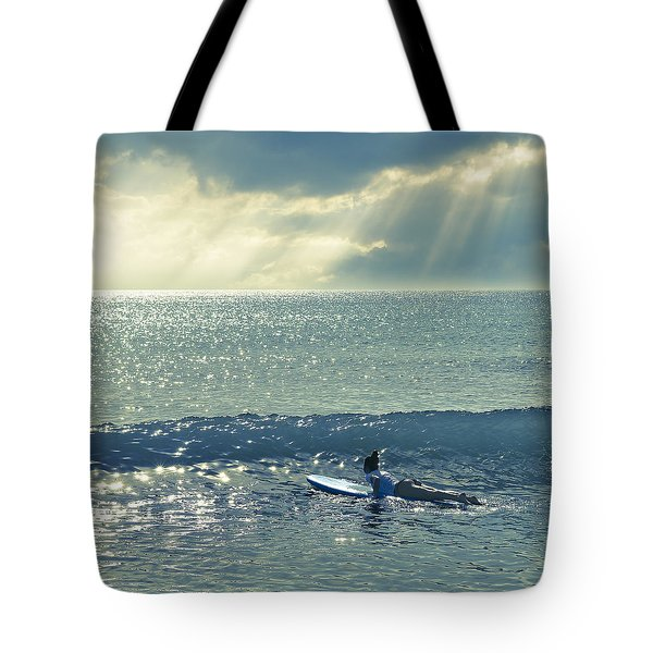 First Of The Day Tote Bag