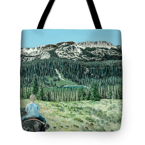 Tote Bag featuring the painting First Ride by Kevin Daly