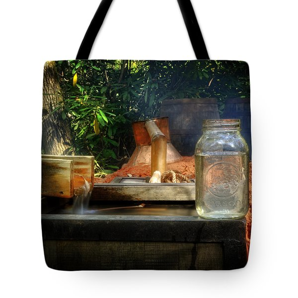 First Run Of Moonshine Tote Bag