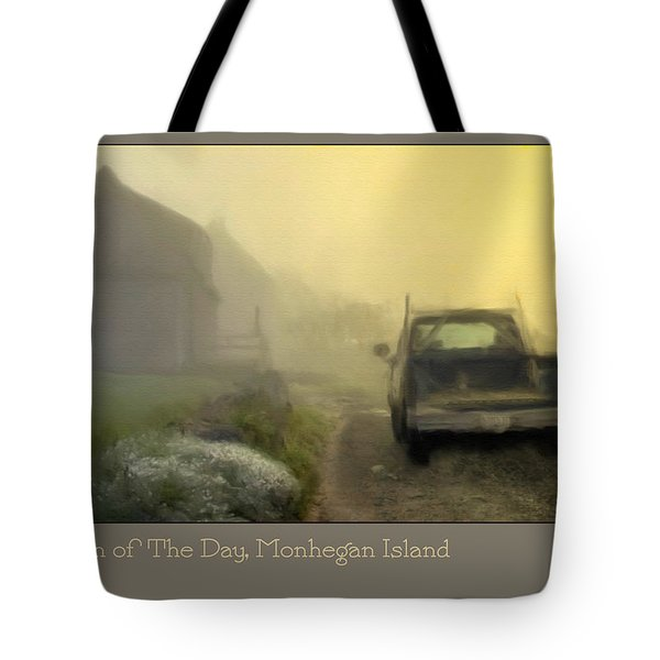 First Run Of The Day, Monhegan Island  Tote Bag by Dave Higgins