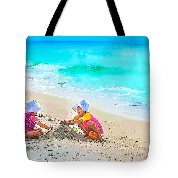 First Sand Castle Tote Bag