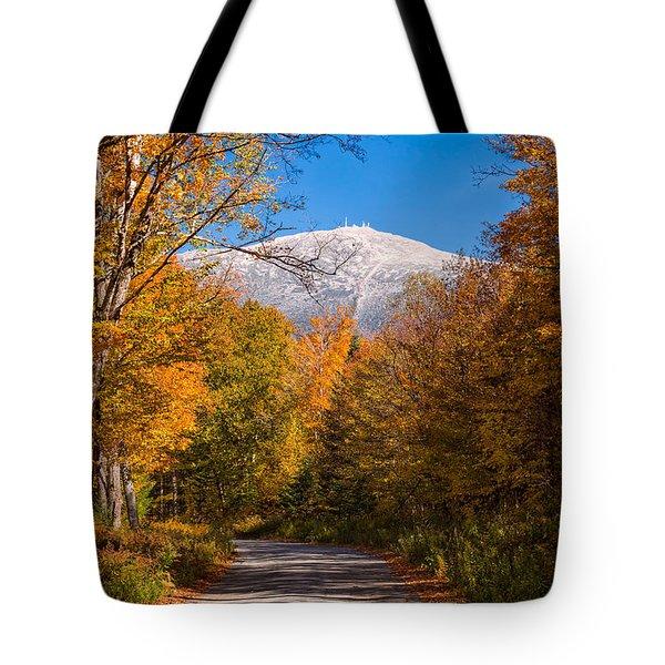 First Snow And Fall Foliage Mount Washington Tote Bag