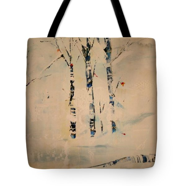 First Snow Central Park Tote Bag