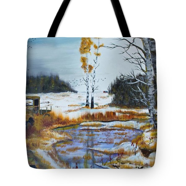 First Snow Tote Bag by Jack G  Brauer