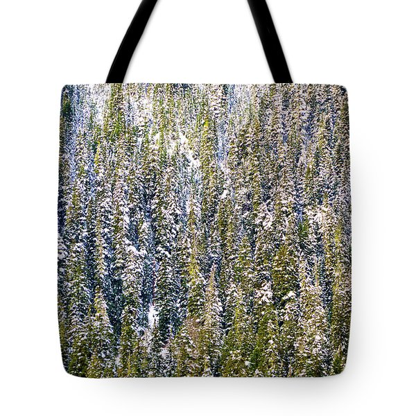 First Snow On Trees Tote Bag