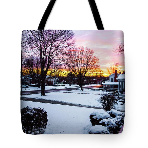 Tote Bag featuring the photograph First Snow by Randy Sylvia