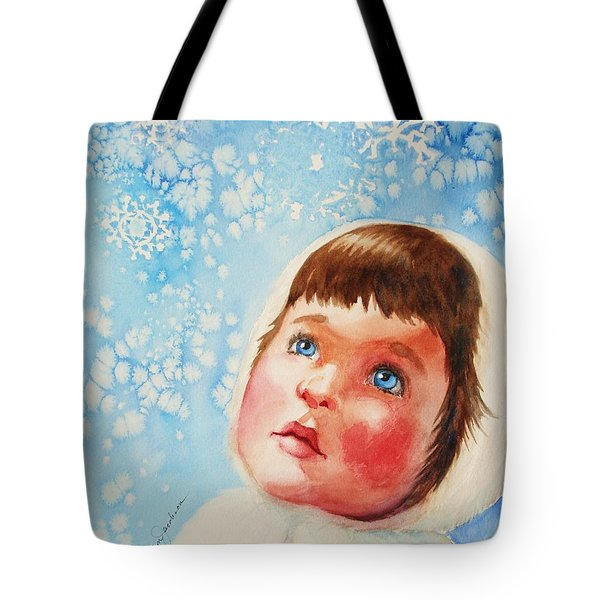 First Snowfall Tote Bag by Marilyn Jacobson