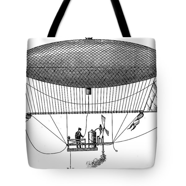 First Steam Powered Airship Designed By Henri Giffard, 1922 Tote Bag