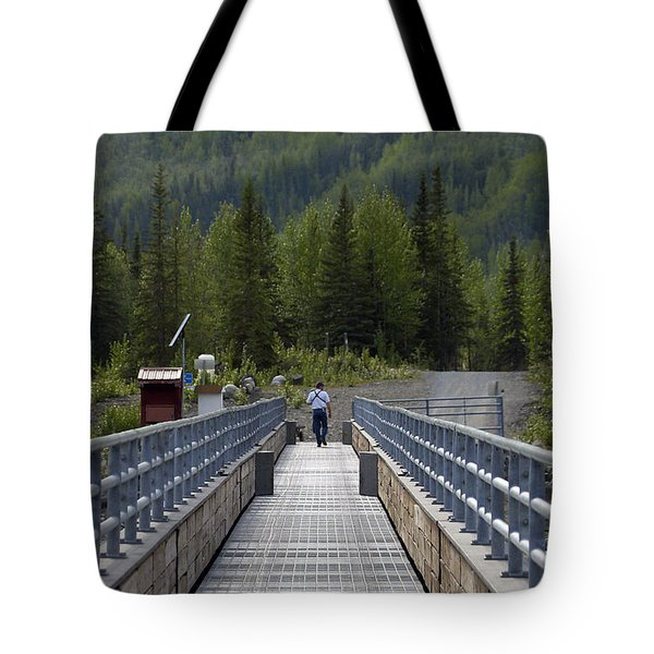 First Steps Down New Roads Tote Bag by Denise McAllister