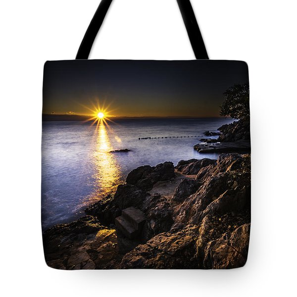 First Rays Over The Adriatic Tote Bag