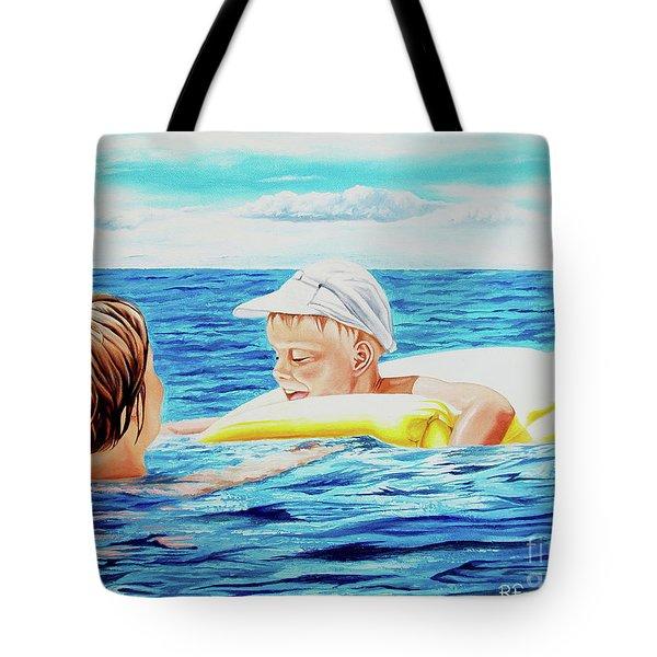 First Swimming - Nadar Primero Tote Bag