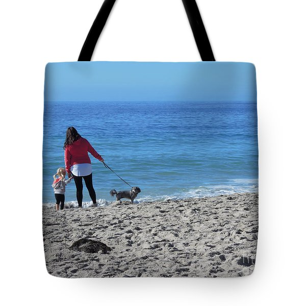 First Visit To The Ocean Tote Bag by Vinnie Oakes