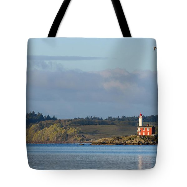 Fisgard Lighthouse At Dawn Tote Bag