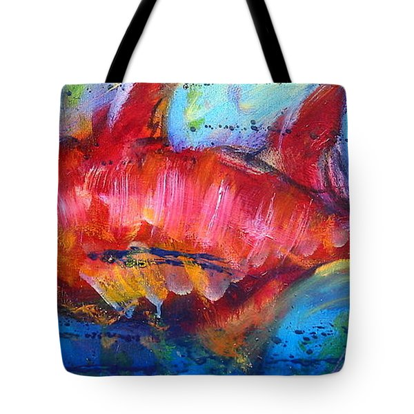 Tote Bag featuring the painting Fish 4 by Les Leffingwell
