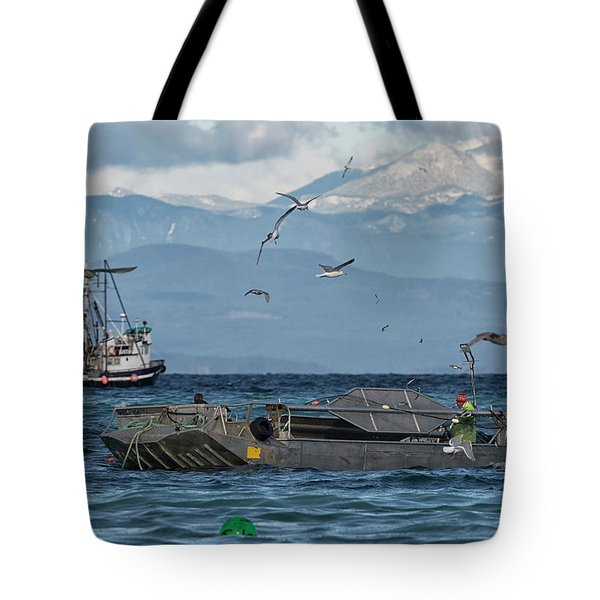 Tote Bag featuring the photograph Fish Are Flying by Randy Hall