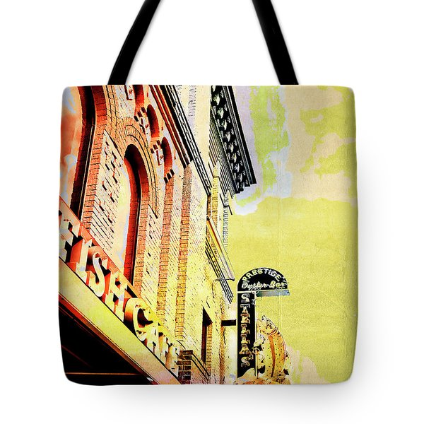 Fish Cafe Tote Bag