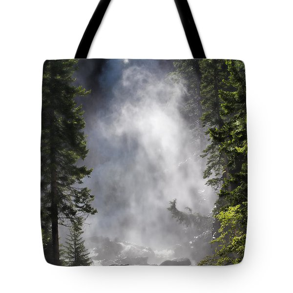 Tote Bag featuring the photograph Fish Creek Falls by Don Schwartz