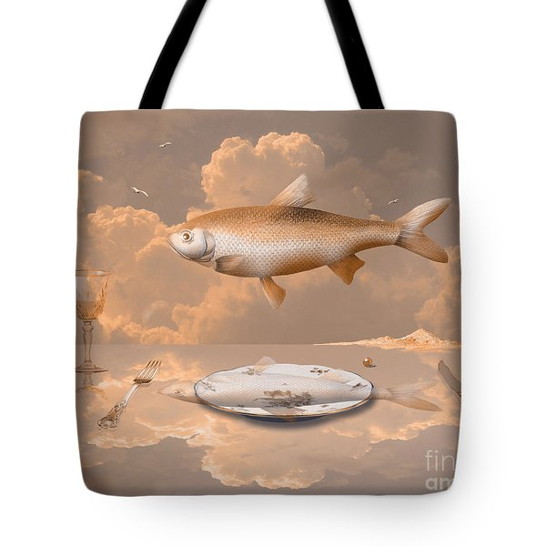 Fish Diner Tote Bag