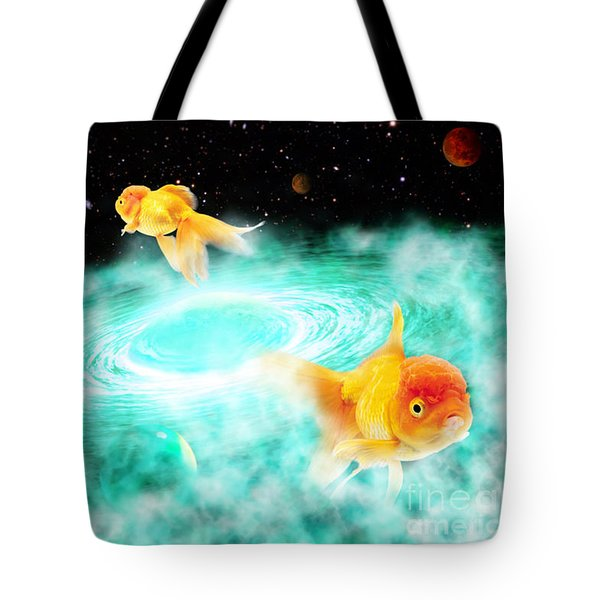 Tote Bag featuring the digital art Zen Fish Dream by Olga Hamilton