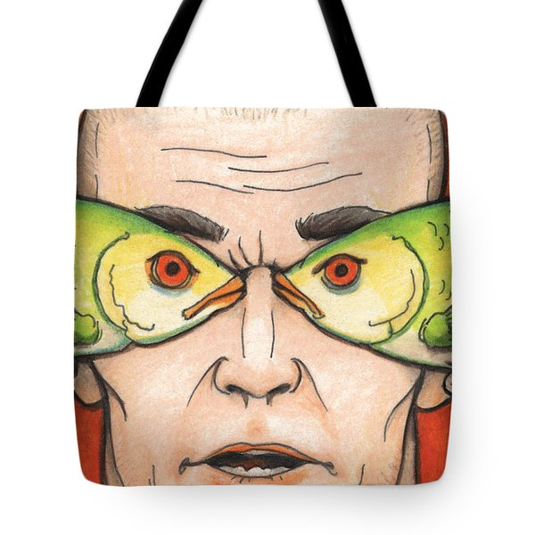 Fish Eyes Tote Bag by Amy S Turner