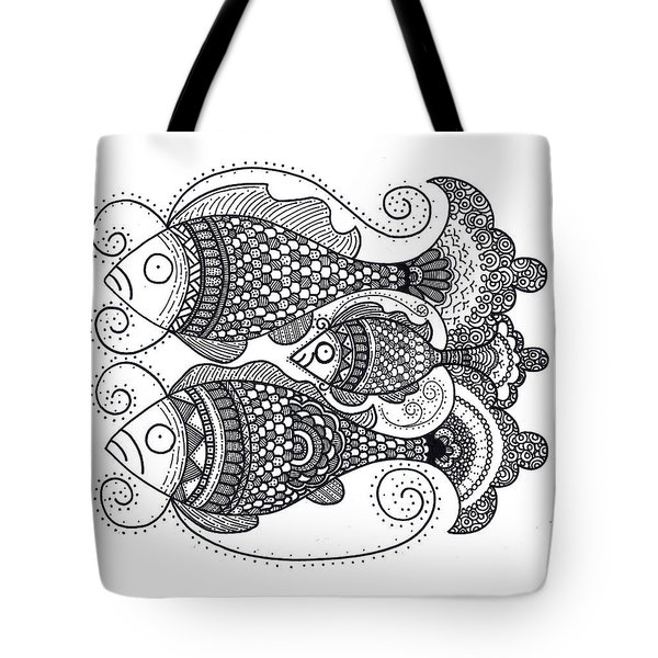Fish Family Tote Bag