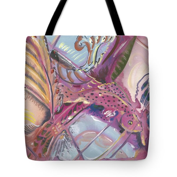 Fish Feathers Tote Bag