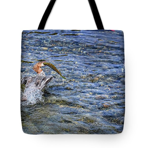 Tote Bag featuring the photograph Fish Gulp by David Lawson