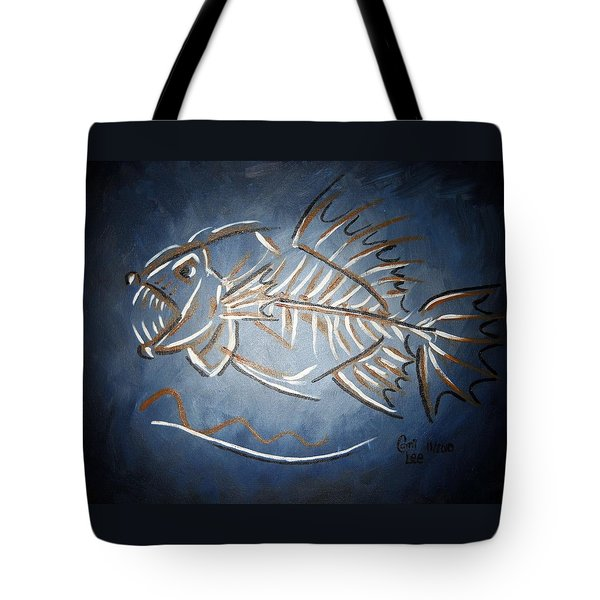Fish Head Tote Bag