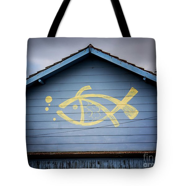 Tote Bag featuring the photograph Fish House by Perry Webster