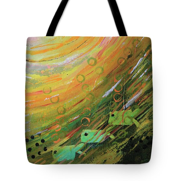 Fish In A Green Sea Tote Bag