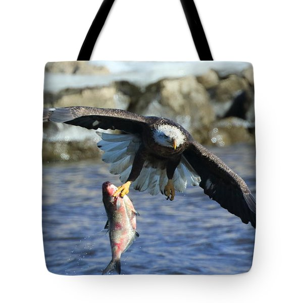 Tote Bag featuring the photograph Fish In Hand by Coby Cooper