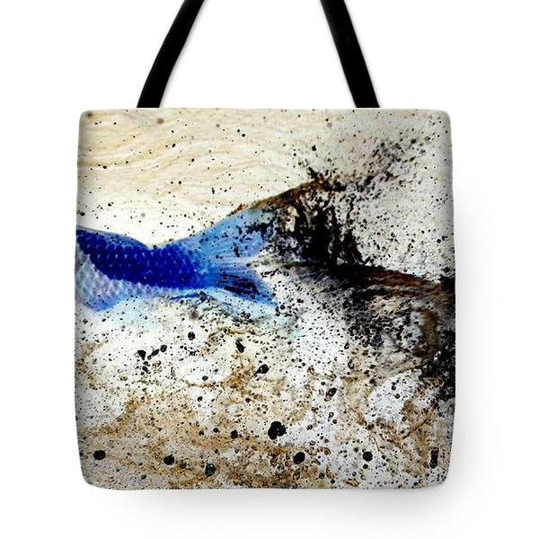 Fish In Rapids Tote Bag