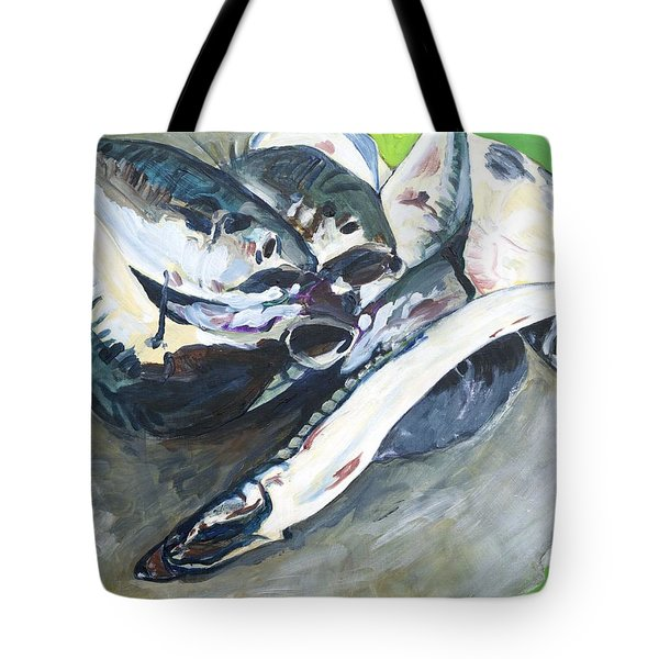 Fish On A Table Tote Bag
