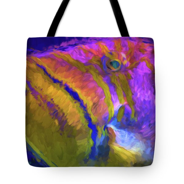 Tote Bag featuring the photograph Fish Paint Dory Nemo by David Haskett