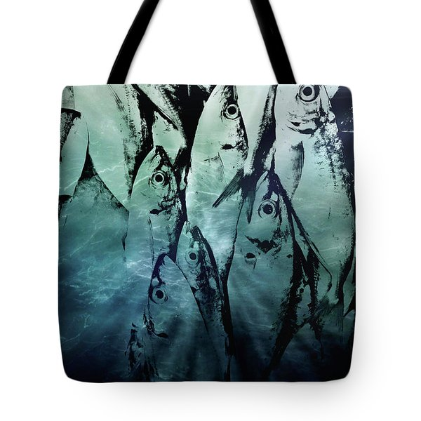 Fish Pattern Tote Bag by Tom Gowanlock
