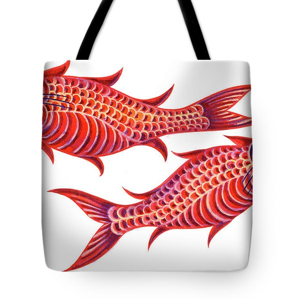 Fish Pisces Tote Bag by Jane Tattersfield