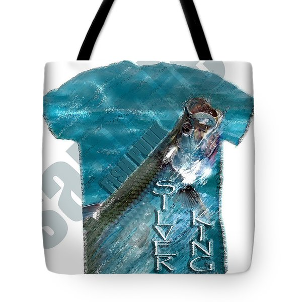 Fish Punk Tarpon Design Tote Bag