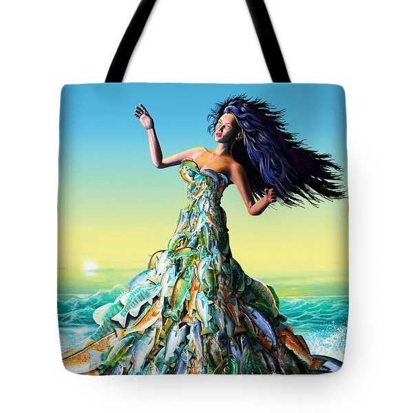 Fish Queen Tote Bag