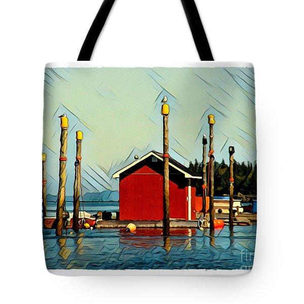 Fish Shack, Campobello Tote Bag