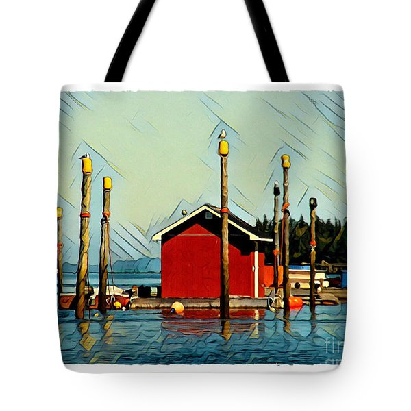 Fish Shack, Campobello Tote Bag