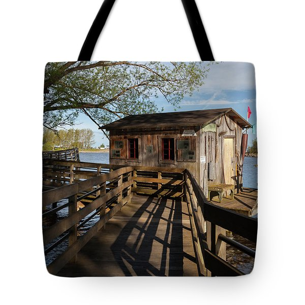 Tote Bag featuring the photograph Fish Shack by Fran Riley